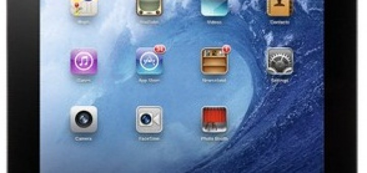 Apple iPad 3 Wi-Fi + Cellular - a front view