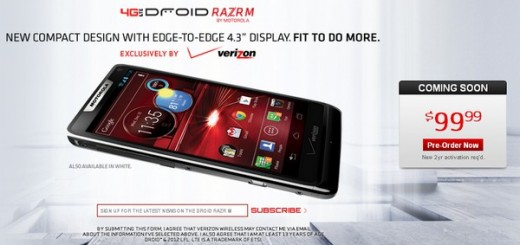 DROID RAZR can be ordered now
