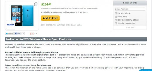 Now you can get Nokia Lumia 520 from Expansys in the USA for $224.99.