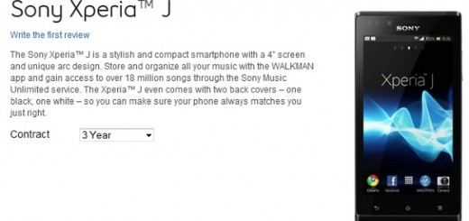 Sony Xperia J available at Virgin and Bell