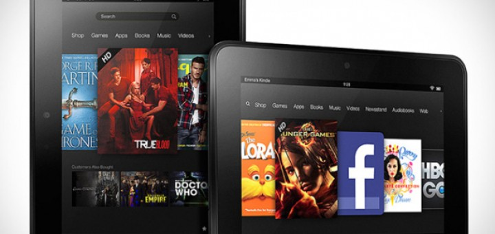 Amazon Kindle Fire HD tablets with 7-inch and 8.9-inch displays