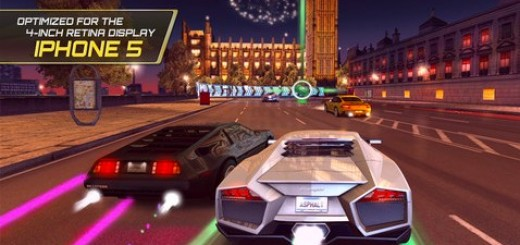 racing games app Asphalt 7: Heat for iOS