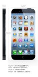 the concept of Apple iPhone 6, display and body