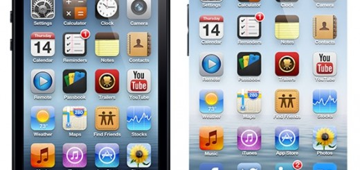 comparison between the concepts for iPhone 5 and iPhone 6