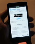 Tizen platform caught on pictures running on a Samsung smartphone