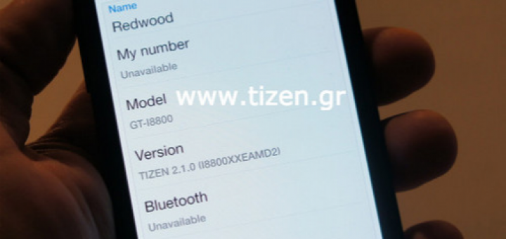 Samsung smarphone that runs on Tizen caught on pics