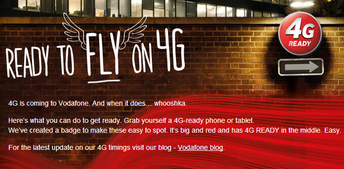 Vodafone announced the switching on the 4G LTE