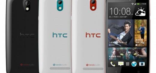 HTC Desire 500 in white and black
