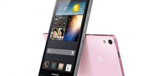 Huawei Ascend P6 in black and pink