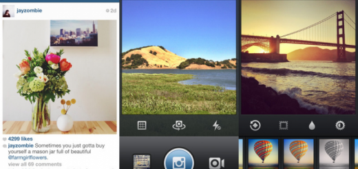 Instagram for iOS screens - home, photo & edit
