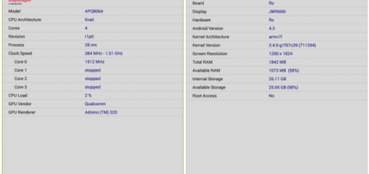 Nexus 7 list with specs