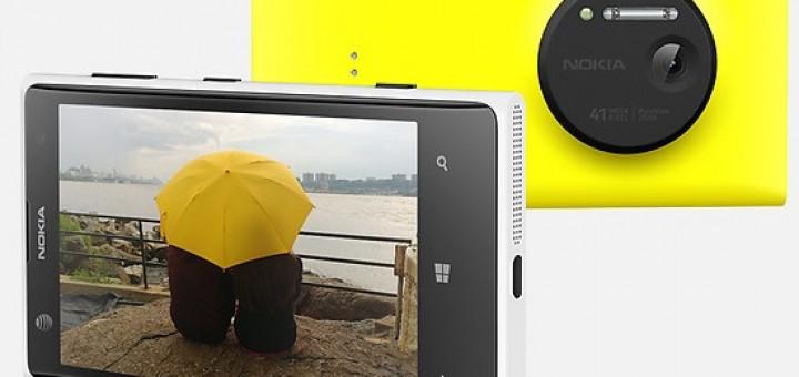 Nokia Lumia 1020 press-shoot in yellow