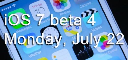 iOS 7 beta 4 release date