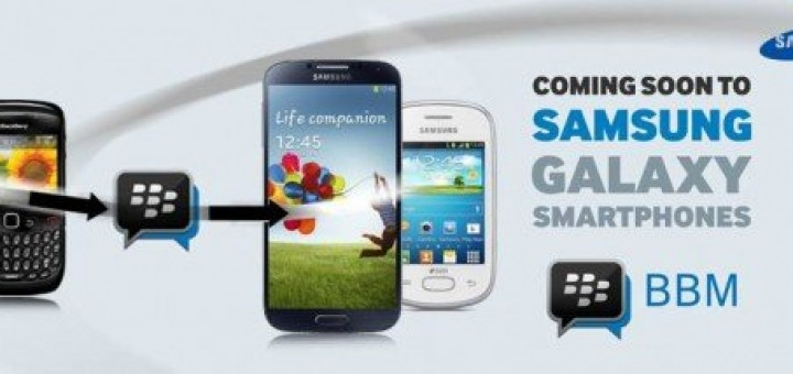 The BBM app will be integrated in some of the Galaxy devices of Samsung