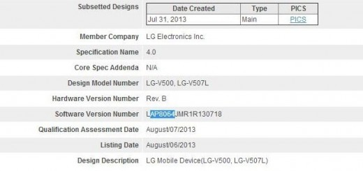 Bluetooth listings unveil the possibility for new tablets by LG