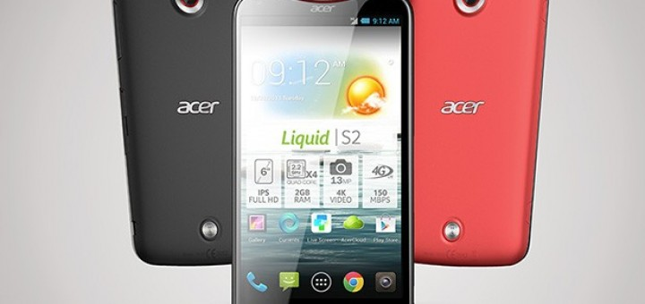 Acer Liquid S2 appears officially for first time in the mobile world