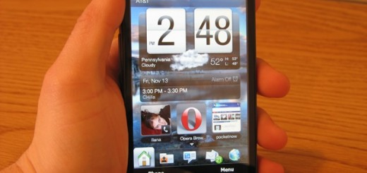 HTC HD2 front view
