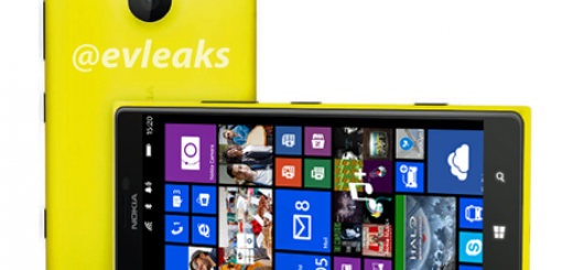 Nokia Lumia 1520 poses for the camera in renders photos