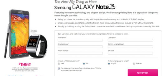 Samsung Galaxy Note 3 now up for pre-order on T-Mobile