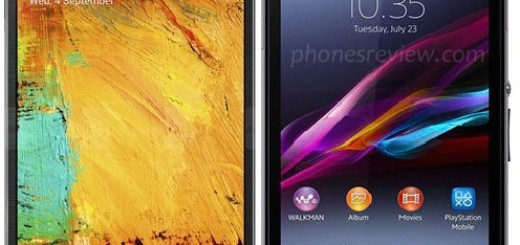 Sony Xperia Z1 now next to the Samsung Galaxy Note 3