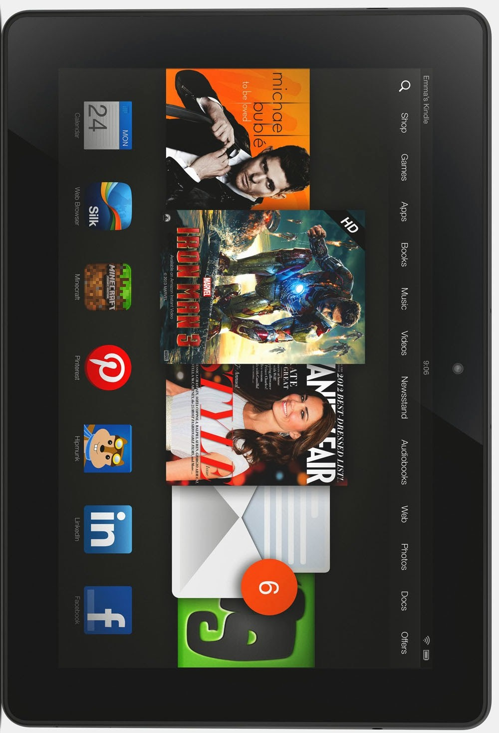 Amazon Kindle Fire HDX 8.9 -Full tablet specifications ...