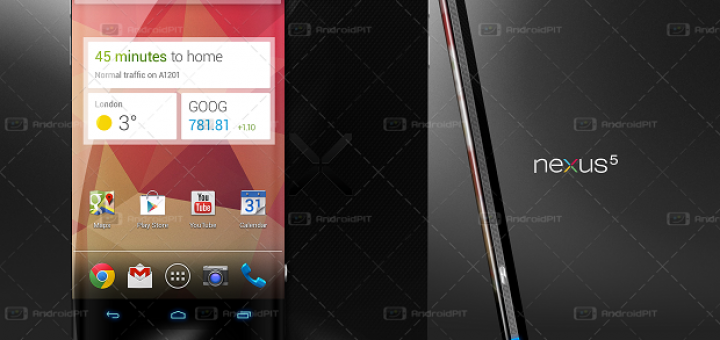 Google Nexus 5 (not the actual device on the picture) now with more information around it