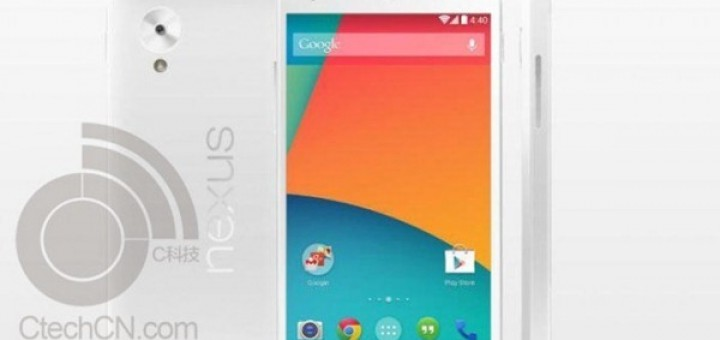 The photos with white Nexus 5 from the recent leak are not real