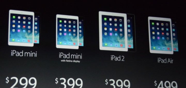 iPad Air, iPad 2 and upgraded iPad mini