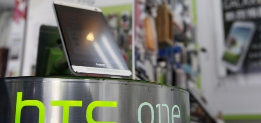 HTC One in a store in Taiwan