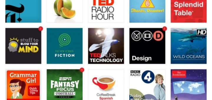 screens of Podcasts 2 for iPad
