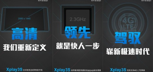 Teaser of the Vivo Xplay3 smartphone