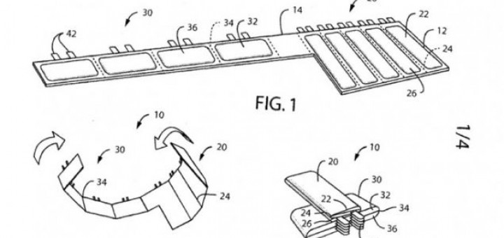 New concept for a foldable battery has been filed for a patent by Nokia