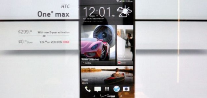 Verizon will offer the HTC One Max for the price of $299.99 with signed contract