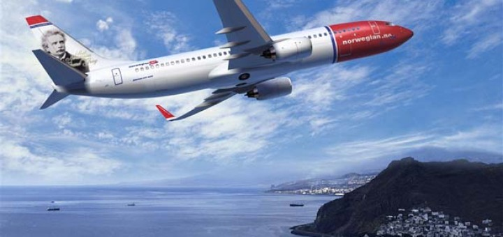 A plane of Norwegian AirLines