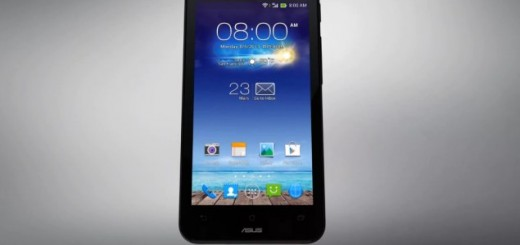 ASUS PadFone mini front view of the phone