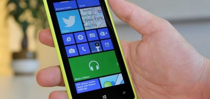 an HTC device running Windows Phone