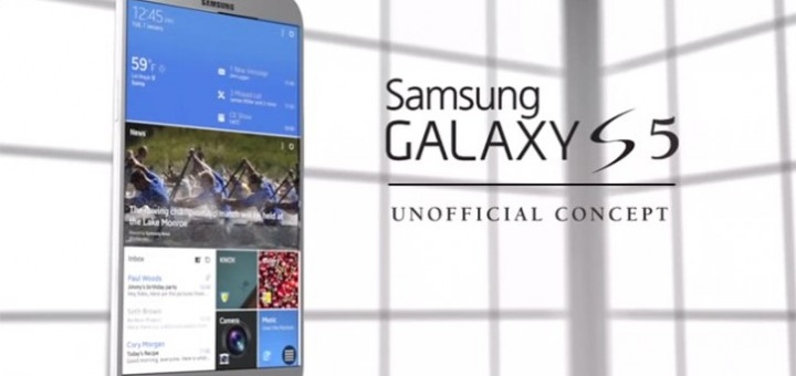 a new concept of the Galaxy S5 flagship model