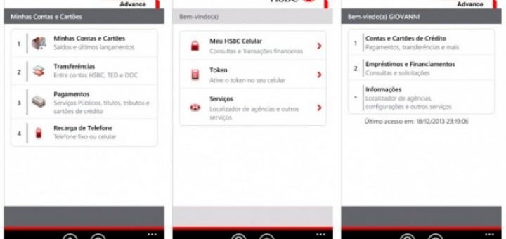 HSBC Windows Phone app for Brazil