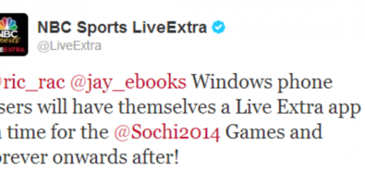 LiveExtra app Windows Phone Twitter announcement