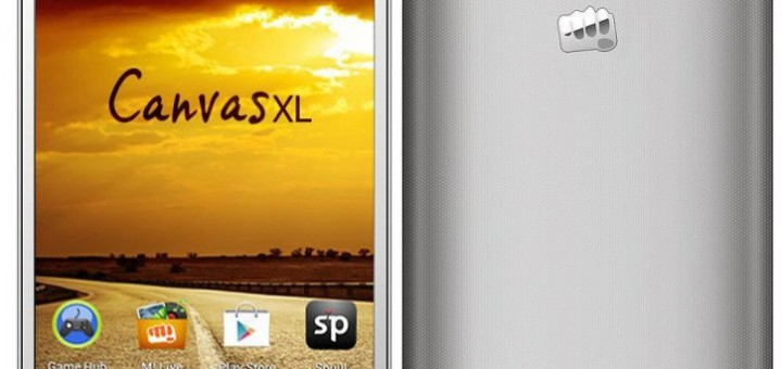 Micromax Canvas XL A119 front and back