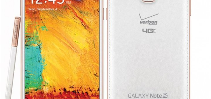 Samsung Galaxy Note 3 Rose Gold White released by Verizon