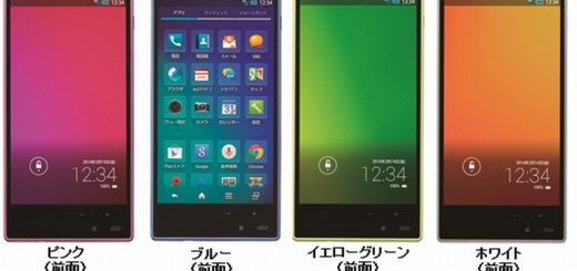Sharp Aquos mini SHL24 front views