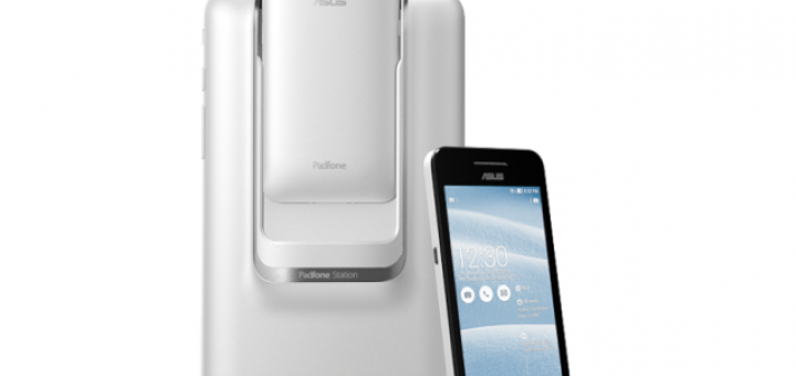 the 4-inch Asus PadFone Mini front & back