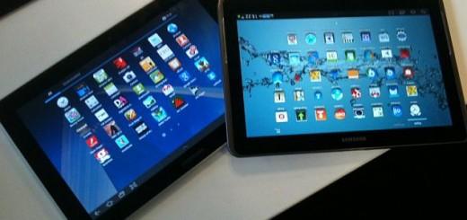 samsung tablets on table