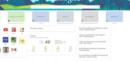 google now on chrome beta