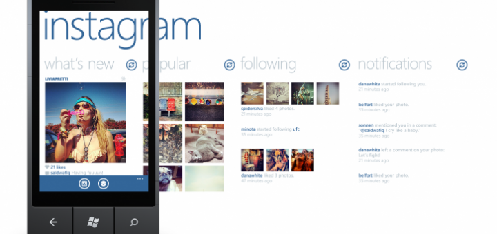 Instagram BETA for Windows Phone 8