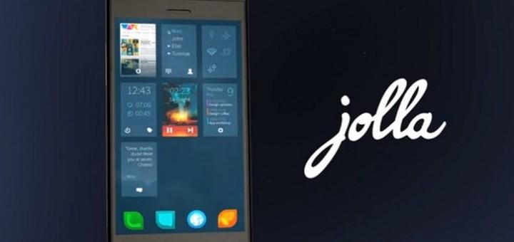 Jolla Phone running Sailfish OS, developed by a Finish company Jolla