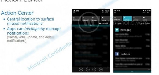 New design for Windows Phone 8.1 center, now Action Center