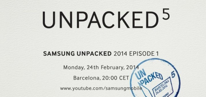 Samsung Unpacked 5 Episode 1 event February 24
