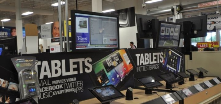 Tablet sales in a store